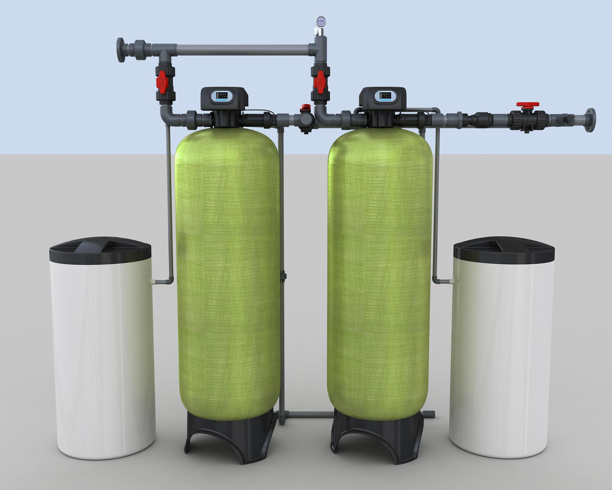 10吨双阀双罐软化系统